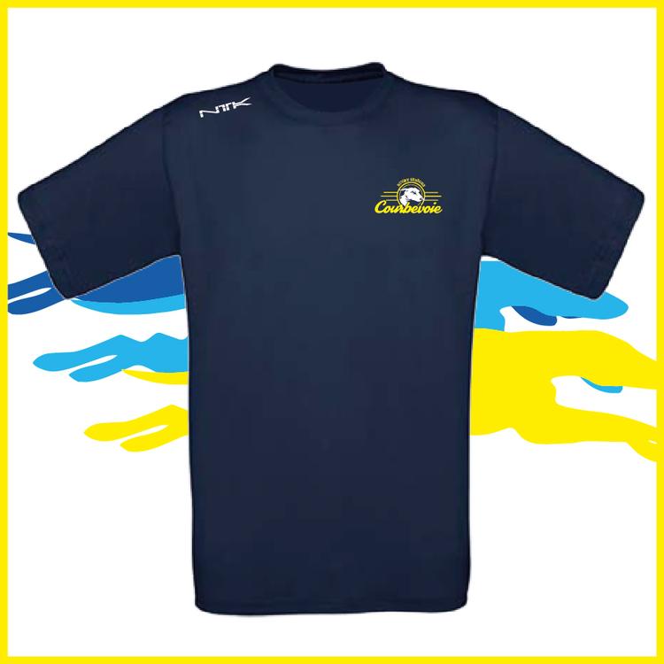 COURBEVOIE TSHIRT marine petit logo