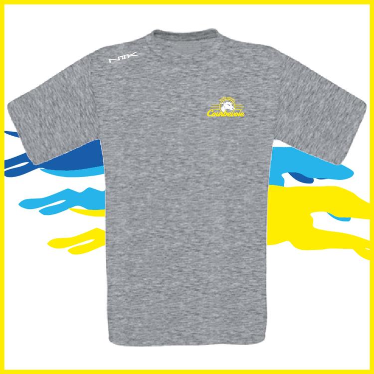 COURBEVOIE PRO TSHIRT gris petit logo